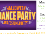 Flyer for Halloween Dance party