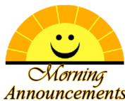 Morrning Announcements