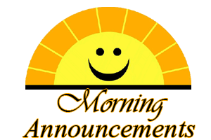 Image result for morning announcements