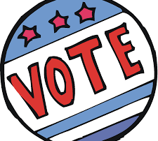 Clipart of voters button