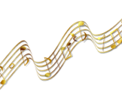 Gold musical notes